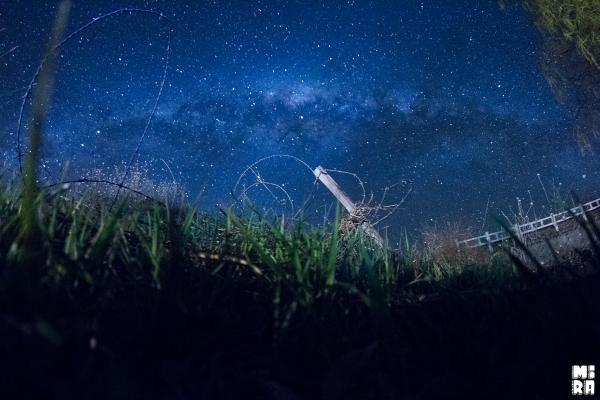 Parada por el camino en medio de la noche. Foto: Manu Urbano